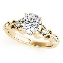 0.65 CTW Certified Diamond Solitaire Bridal Antique Ring 14K Yellow Gold - 25267-REF#93F8N