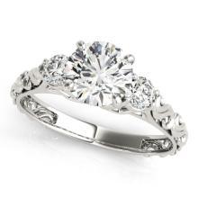 1.25 CTW Certified Diamond 3 Stone Bridal Ring 14K White Gold - 25892-REF#270T9Z