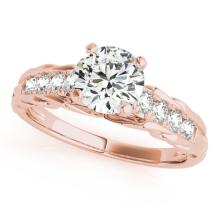 1.20 CTW Certified Diamond Solitaire Bridal Ring 14K Rose Gold - 25386-REF#273W4H