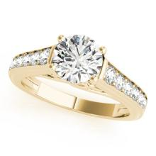 1.25 CTW Certified Diamond Solitaire Bridal Ring 14K Yellow Gold - 25354-REF#153Z3T