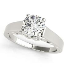 0.75 CTW Certified Diamond Solitaire Bridal Ring 14K White Gold - 25628-REF#135M6G