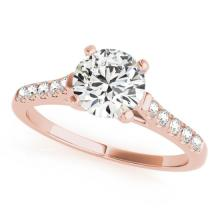0.97 CTW Certified Diamond Solitaire Bridal Ring 14K Rose Gold - 25428-REF#139V3A