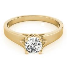 1 CTW Certified Diamond Solitaire Bridal Ring 14K Yellow Gold - 25642-REF#268N2F