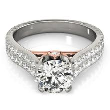 1.36 CTW Certified Diamond Pave Bridal Ring 14K White & Rose Gold - 25943-REF#159N8F