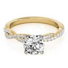 1.25 CTW Certified Diamond Solitaire Bridal Ring 14K Yellow Gold - 25699-REF#273H4W