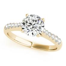 1 CTW Certified Diamond Solitaire Bridal Ring 14K Yellow Gold - 25279-REF#140G2M