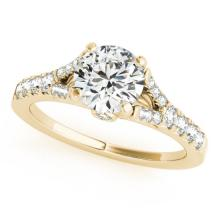 0.75 CTW Certified Diamond Solitaire Bridal Ring 14K Yellow Gold - 25480-REF#59Z5T