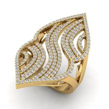 Natural 2.0 CTW Micro Pave Diamond Certified Designer Ring 14K Yellow Gold - 20870-REF#133F9V