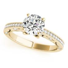 0.75 CTW Certified Diamond Solitaire Bridal Antique Ring 14K Yellow Gold - 25222-REF#88Y8X