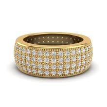 Natural 2.50 CTW Micro Pave Diamond Eternity Bridal B& Ring 18K Gold Size 7.5 - 20884-REF#160T8K