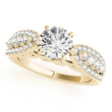 Genuine 1.45 CTW Certified Diamond Solitaire Bridal Ring 14K Yellow Gold - 25720-REF#184N7F