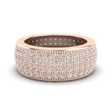 Natural 2.50 CTW Micro Pave Diamond Eternity Bridal B& Ring 14K Gold Size 7.5 - 20882-REF#152K2W