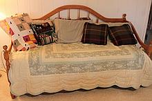 Oak Framed Trundle Bed with Mattresses