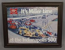It's Miller Time at the Indianapolis 500 Sign