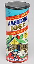 Vintage American Log Toy Set for Future Builders