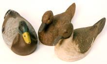 3 J.C. Higgins Life-Like Duck Decoys