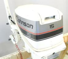 1988 Johnson 15HP 2 Stroke Boat Motor