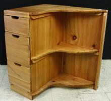 Space Saving Wood Corner Cabinet