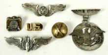 6 Vintage Army Military Airborne Pins