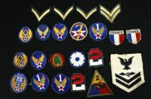 22 Vintage Military Patches