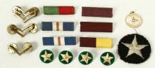 15 Military Badges, Pins, Stars