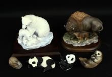 Masterpiece Porcelain Endangered Species - Bison, Polar Bear & Cubs