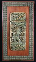 Toltec Warrior Stone Art Plaque Original Zarebski