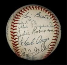 1950s All Star Autographed Baseball - Mantle, Mays