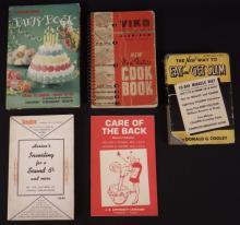 5 Vintage Books - Foodarama Party Book, Vico Cook