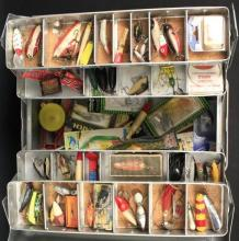 J. C. Higgins Tackle Box Loaded with Lures