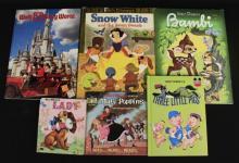 Lot of 6 Walt Disney Books - Snow White - Bambi