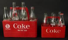 2 Vintage Coca Cola Plastic Bottle Carriers