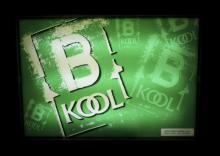 B Kool Cigarette Advertisement Back Lit Sign
