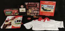 Vintage Coca Cola Bowling Shirt, Helicopter