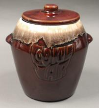 Brown Ceramic Cookie Jar Made in USA