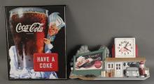 Vintage Sprite Boy Coca Cola Sign & Wall Clock