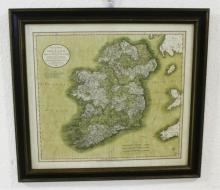 1799 New Map Of Ireland Print By John Cary