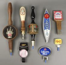 8 Vintage Beer / Keg Taps - Miller - Budweiser