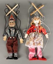 2 Marionettes - Pinocchio & Girl
