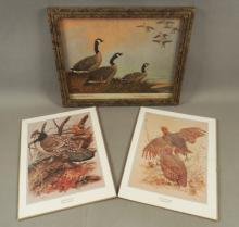 3 Wildfowl Prints - 'Dawn Patrol' Lynn Bogue Hunt