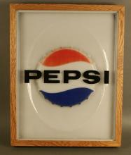 Pepsi Plastic Framed Wall Display