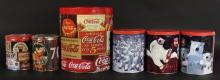 5 Coca Cola Collectibles Tins Lot