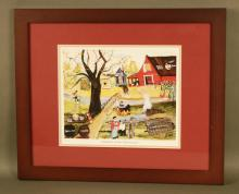 Bringing Home The Bacon Framed Print