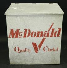 Vintage McDonald Milk Muckle Cooler