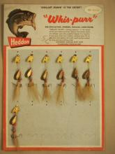 Heddon Whis - Purr Lure Display Board With Seven O