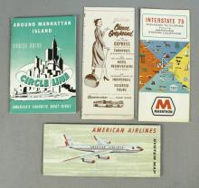 Vintage Travel Guides & Map, American Airlines