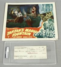 Edgar Rice Burroughs Signed Check, 1948 Tarzan