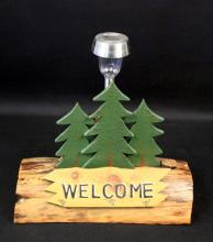 Welcome Sign Solar Light Yard Decoration