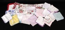 Vintage Handmade Embroidered Handkerchiefs