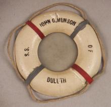 Miniature Life Ring S.S. John G. Munson Freighter